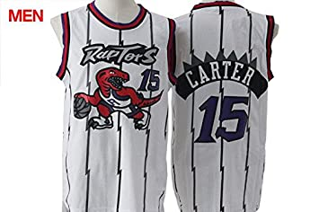 newest collection 0ba07 ca2c0 Toronto Raptors - Vince Carter #15 White Retro Jersey for ...