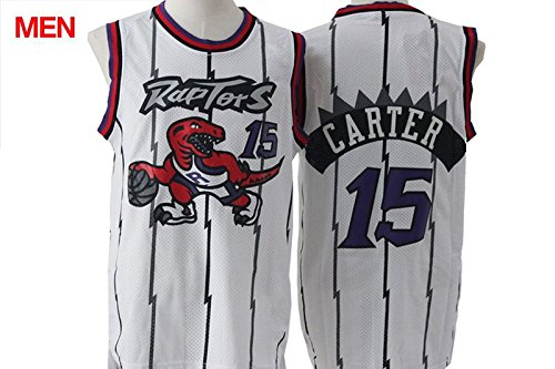 Mens Brand New Retro Jersey, Toronto Raptors #15 Vince Carter White S