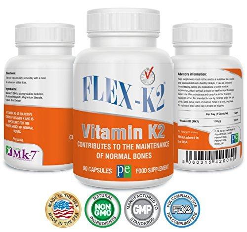 Flex-K2 100 mcg de vitamina K2 (MK-7) - 90 cápsulas: Amazon.es: Salud y cuidado personal
