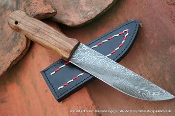 De acero de Damasco cuchillo de coleccionista de la Edad ...