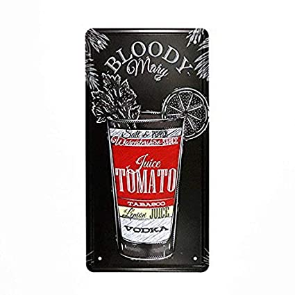 Amazon.com: DYTrade Bloody Mary - Placa de matrícula vintage ...