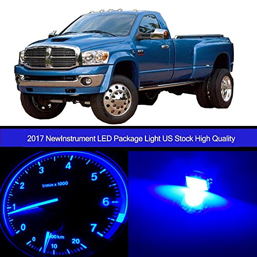 cciyu 30pack Blue Speedometer Instrument Gauge Cluster Light W/Twist Socket +HVAC Climate Control light Kits Replacement fit for 2002-2006 Dodge Ram 2500 (Speedometer Ram Dodge)