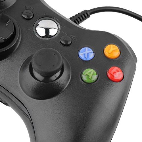 Wired USB Game Controller Gamepad Game Joystick Joypad for Microsoft Xbox 360 & Windows PC (Black)
