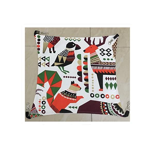 Margelo Pet Cage Hammock, Cat Ferret Hammock Bed for Bunny/Rabbit/Rat/Small Animals 2