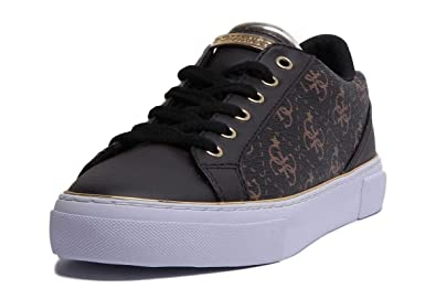 Guess Scarpe Sneaker Bassa MOD. GROOVED in Ecopelle Brown Stampa Logo Donna  DS19GU19 1f4fb613a66