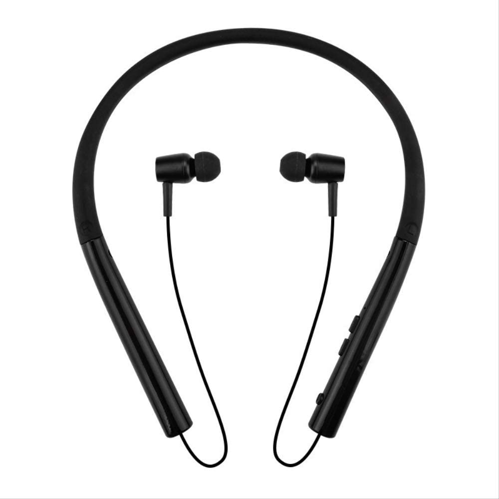 chachacha Wireless Bluetooth Headset Sport Running Waterproof Sweat Neck Hanging Neck Stereo Rear Hanging In-Ear  Black