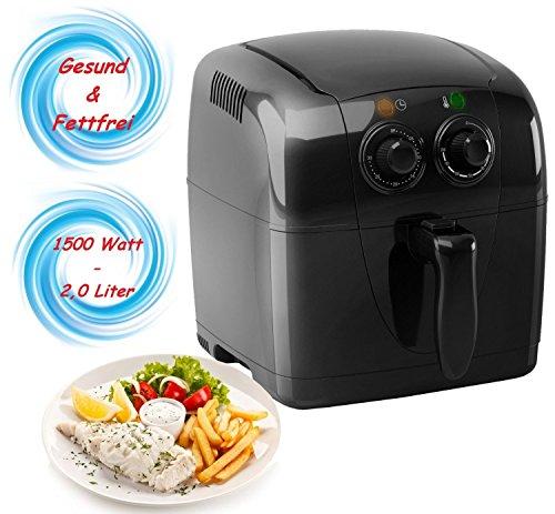 Heißluft Fritteuse Airfryer Fritöse Friteuse Heissluft Frittöse 1.500 Watt 4in1 Kochen, Backen, Grillen & Frittieren 80% weniger Fett