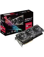 Asus ROG Strix Radeon RX 580 Overclock Edition 8 GB GDDR5, Tecnologia Auto-Extreme, VR Friendly, Tecnologia MaxContact e Backplate