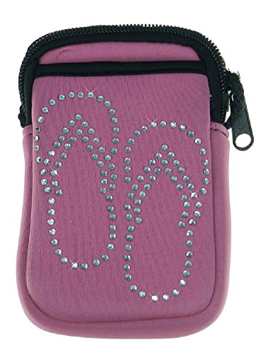 Bling Flip Flops Pami Pocket Cell Phone Purse - Pink - Lo...