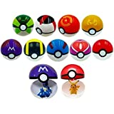 Kool KiDz 9 Pieces Different Style Ball +9 Pieces Figures Plastic Super Anime Figures Balls for Pokemon Kids Toys...