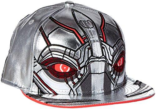 - New Era Cap Men's Ultron Character Armor 59Fifty Cap, Silver/Red, 7 1/2