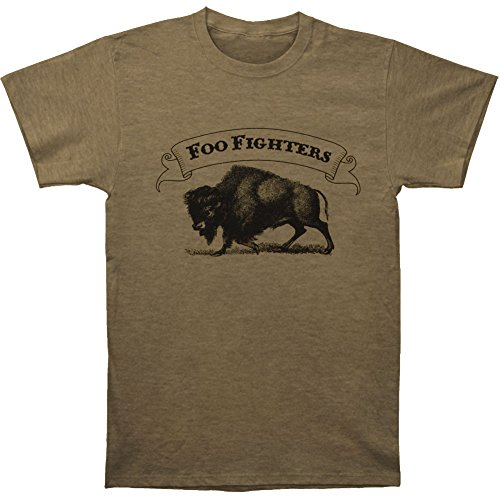 Buffalo Banner (Foo Fighters Men's Buffalo Banner Slim Fit T-shirt XX-Large Olive)
