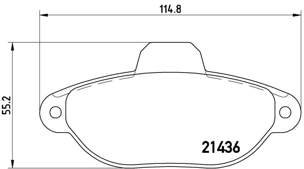 Brembo Kit 4/plaquettes de frein avant