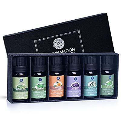 Essential Oils Gift Set,Top 6 Aromatherapy Oils Orange Lavender Tea Tree Peppermint Eucalyptus Lemongrass