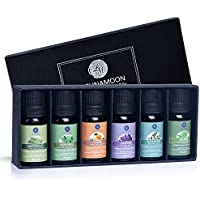 Lagunamoon Top 6 Aromatherapy Oils Orange Lavender Tea Tree Peppermint Eucalyptus Lemongrass