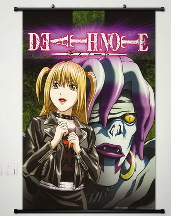 Death Note Wall Scroll Poster Fabric Painting for Anime Misa Amane & Rem 072 - Misa Scroll Wall