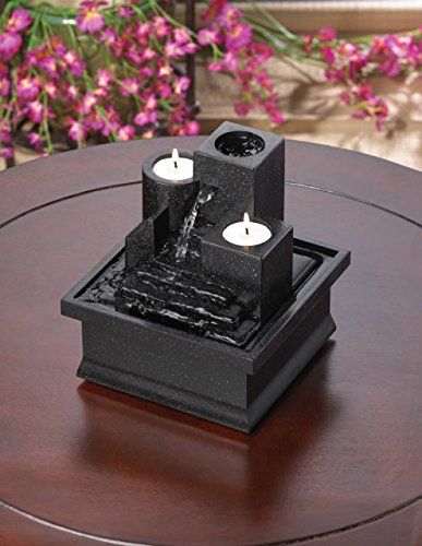Tabletop Candle Relaxation Fountains Garden Tranquility Indoor Waterfall Home Feng Sui Outdoor Pump