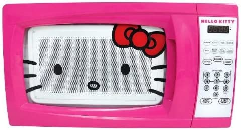 Amazon Com Hello Kitty Microwave Oven Countertop Microwave Ovens Kitchen Dining