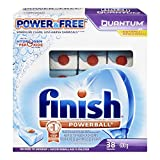 Finish Quantum Dishwasher Detergent, Power and Free, 38 Count