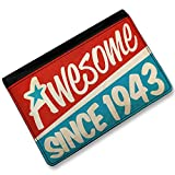 RFID Passport Holder Awesome since 1943, Birthday/Year, Cover Case / Wallet - N