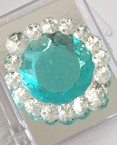 Edible Sugar Brooch Wedding Cake Diamond Jewel Gem Candy Decoration Round (Purple) ()