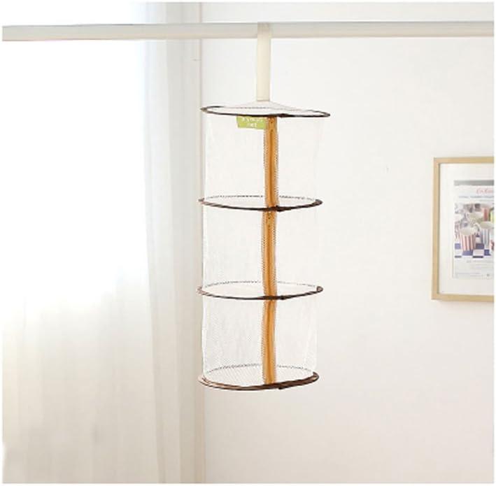 Interior cesta ropa capas de la ropa interior de malla plegable cesta de la ropa interior de secado Cuelgue la cesta