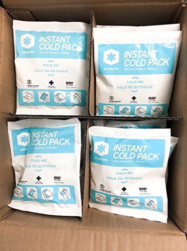 """IceWraps 5"""" x 6"""" Instant Cold Breakable Ice Packs - Emergency Disposable First Aid Ice Packs - Bulk Case of 50 by IceWraps (Image #8)"""