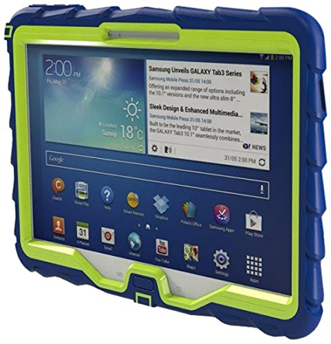 Samsung Tab 3 10 inch (2013) Drop Tech Blue Gumdrop Cases Rugged Shock Absorbing Protective Dual Layer Cover Case (Mini Samsung Galaxy Tablet Case compare prices)