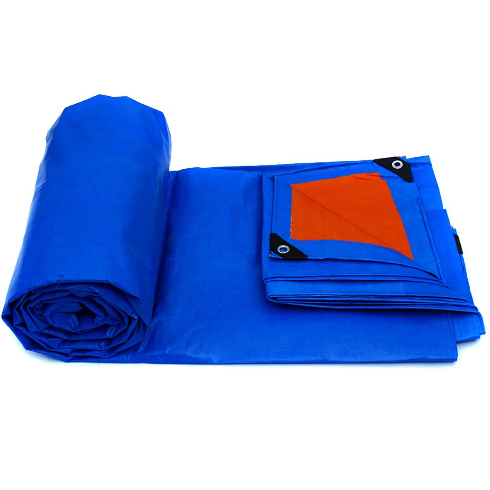 JNYZQ Las Cubiertas de Azules Resistentes de Cubiertas la Hoja al Aire Libre toldo Impermeable toldo Sombra de Sol Espesar Impermeable Tarpauline 155g / ㎡ (Tamaño : 5m×7m) b2235e