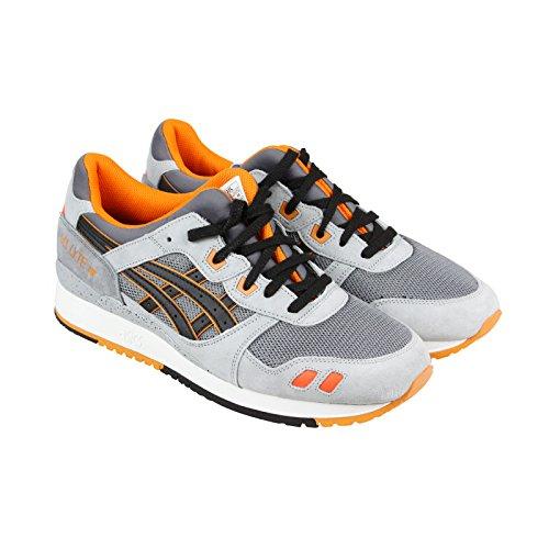 ASICS GEL Lyte III Retro Running Shoe, Grey/Black, 10 B(M) US