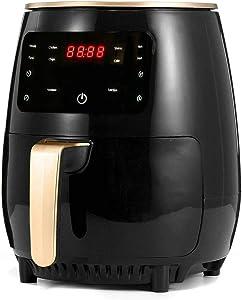 KLYHCHN Air Fryer Large Oilless Cooker with Detachable Dishwasher Safe Basket Air Frying, 1200W 4.5L Air Fryer Oil Free Health Fryer Cooker French Fries Pizza Fryer 110V/220V (Black)