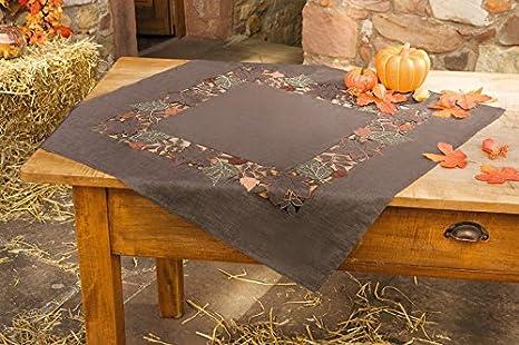 Sonderpreis Tischläufer Mitteldecke Herbstlaub sandbraun-bunt in 3 Größen