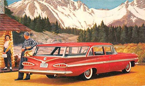 59 Chevrolet Nomad Station Wagon Automobile Ad Vintage Postcard KA688415