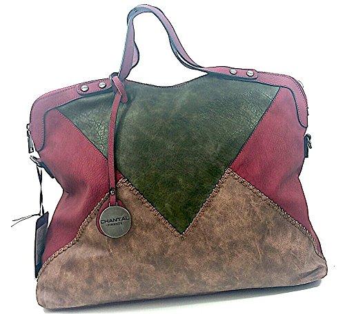 Mano Borsa A Patchwork Donna Blanco Store Rosso Ecopelle Tracolla Staccabile Borsa fWw8q6q4F