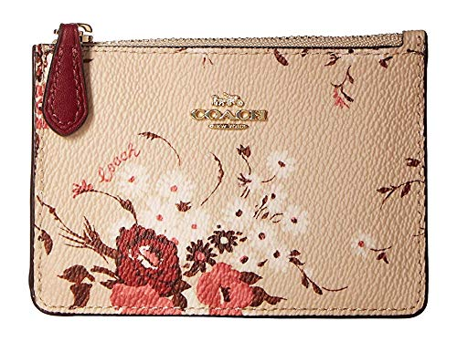 COACH Women's Floral Bundle Mini ID Skinny Beechwood Floral Bundle/Gold One Size ()