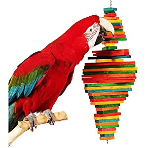 Bonka Bird Toys 1811 Double Pyramid Bird Toy Parrot cage Toys Cages Macaw Amazon Cockatoo Conure 43