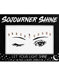 Face Jewels Glitter Gems Rhinestones - Eye Body Jewels Gems | Rhinestone Stickers | Body Glitter Festival Rave & Party Accessories by SoJourner (Copper Shine)