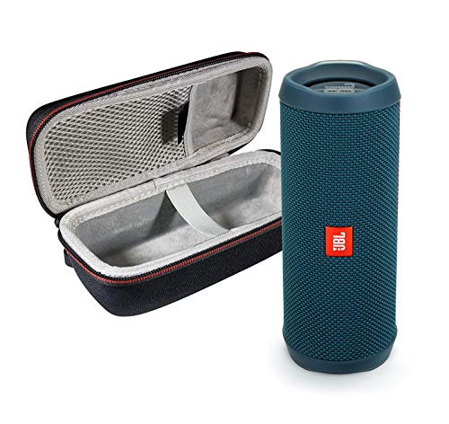 JBL Flip 4 Portable Bluetooth Wireless Speaker Bundle with Protective Travel Case – Ocean Blue