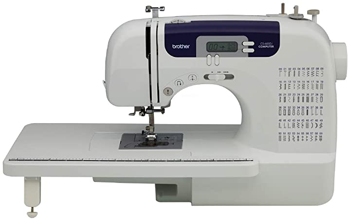 Brother CS-6000i Eléctrico - Máquina de Coser (Blanco, Costura, 1 ...