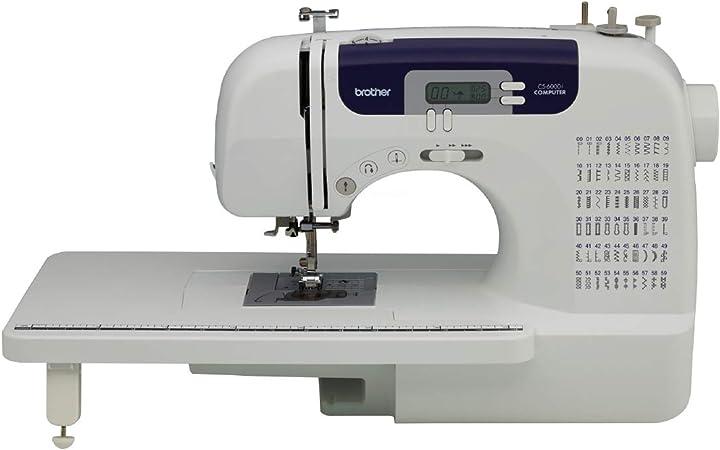 Brother CS-6000i Eléctrico - Máquina de Coser (Blanco, Costura, 1 ...