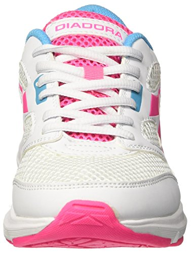 Diadora Shoes Running Sneaker Jogging Women Shape 7 Super Bianco / Rosa Taglia Bianco