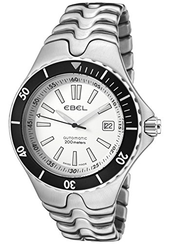 Ebel Sportwave Mens Silver Dial Tachymeter Bezel Stainless Steel Automaic Watch 9120K51/63B11 / 1215462
