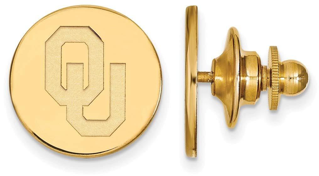 14K Yellow Gold University of Oklahoma Tie Tac by LogoArt