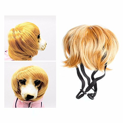 Dog Cute Wigs Mane Hair Wavy Syethetic Festival Party Fancy Dress Halloween Costume pet hair accessories