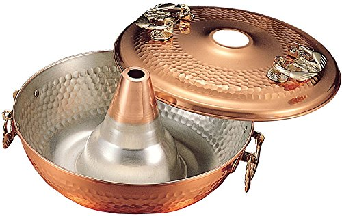 Copper shabu-shabu (Lightly-boiled Thin Sliced Beef in Hot Soup) pot Terusumeragi 26cm 7774ap by Takegoshi industry