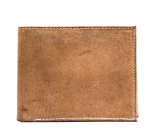 Leather Rock Tri Fold Wallet (HandMade genuine Leather vintage Bifold Wallet Coin Pouch multiple card slots for)