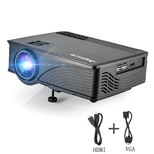 Mini Projector Joyhero Support Full HD 1080P 1920 x 1080Pixels 2000 Lumens Portable Video Projector for Home Cinema TheaterMovie Video Games With HDMI VGA Cable(black) by Joyhero