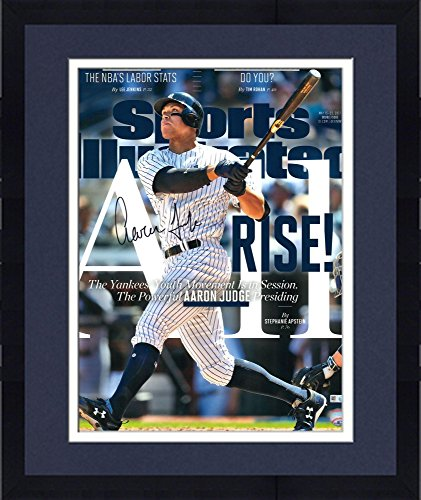 Framed Aaron Judge New York Yankees Autographed 16