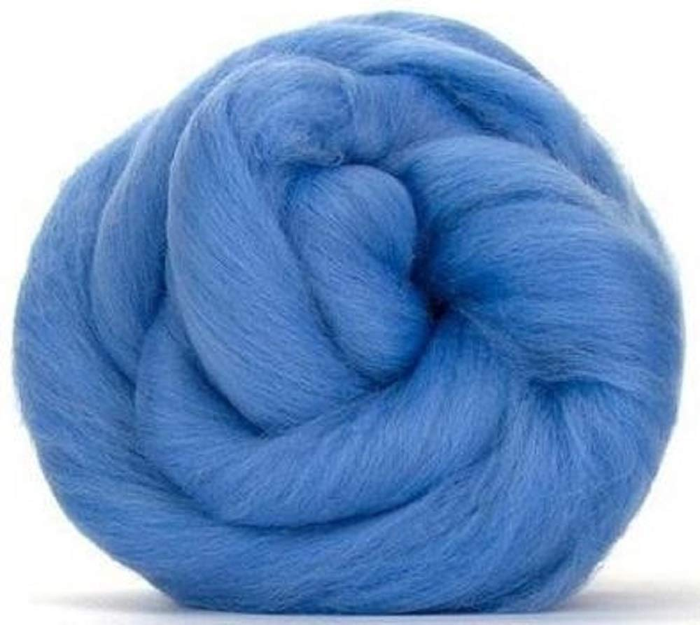 Blending and Weaving Merino Top Spinning Fiber Luxuriously Soft Wool Top Roving for Spinning with Spindle or Wheel 4 oz Paradise Fibers 64 Count Dyed Mallard Green Felting