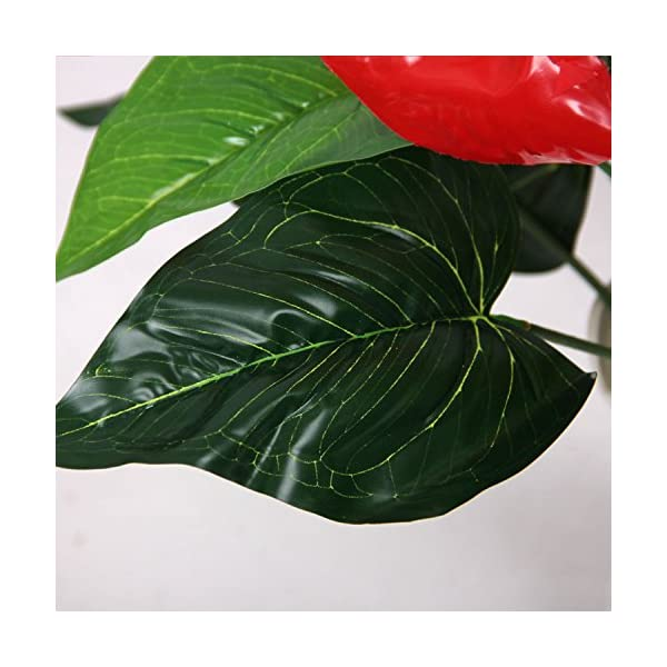 18-Heads-Wedding-Furniture-Decor-Artificial-Anthurium-Flower-Plant-Tree-Foliage
